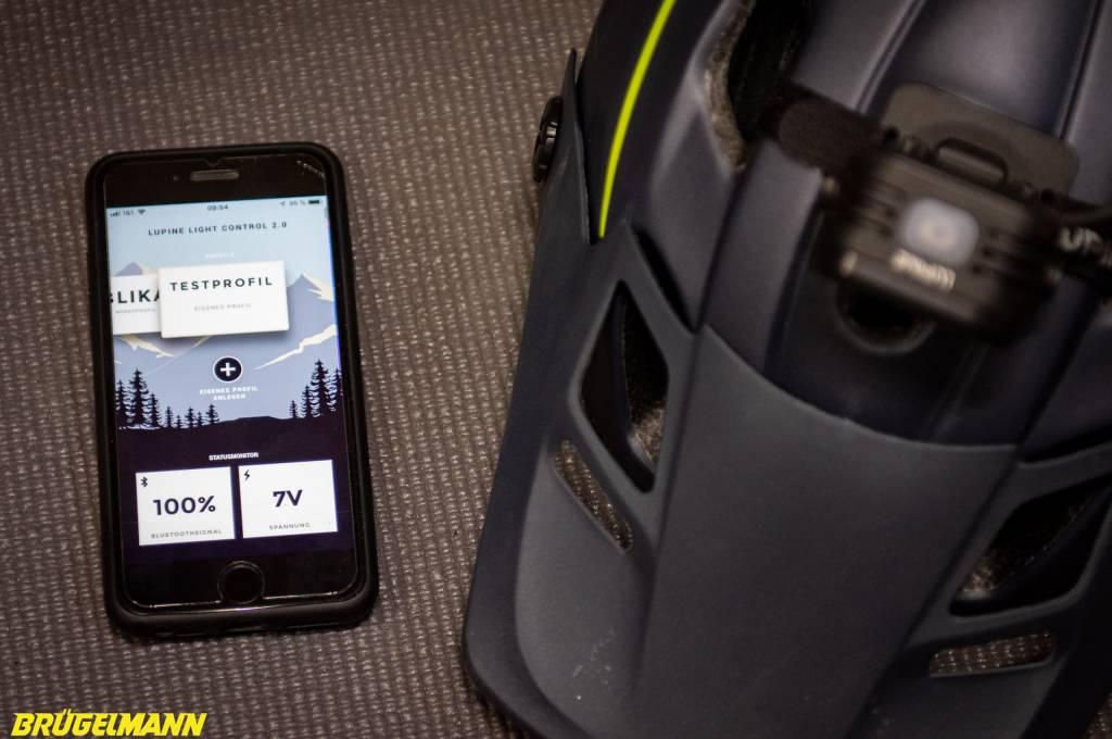 Steuerung der Helligkeit über eine entsprechnde App von Lupine