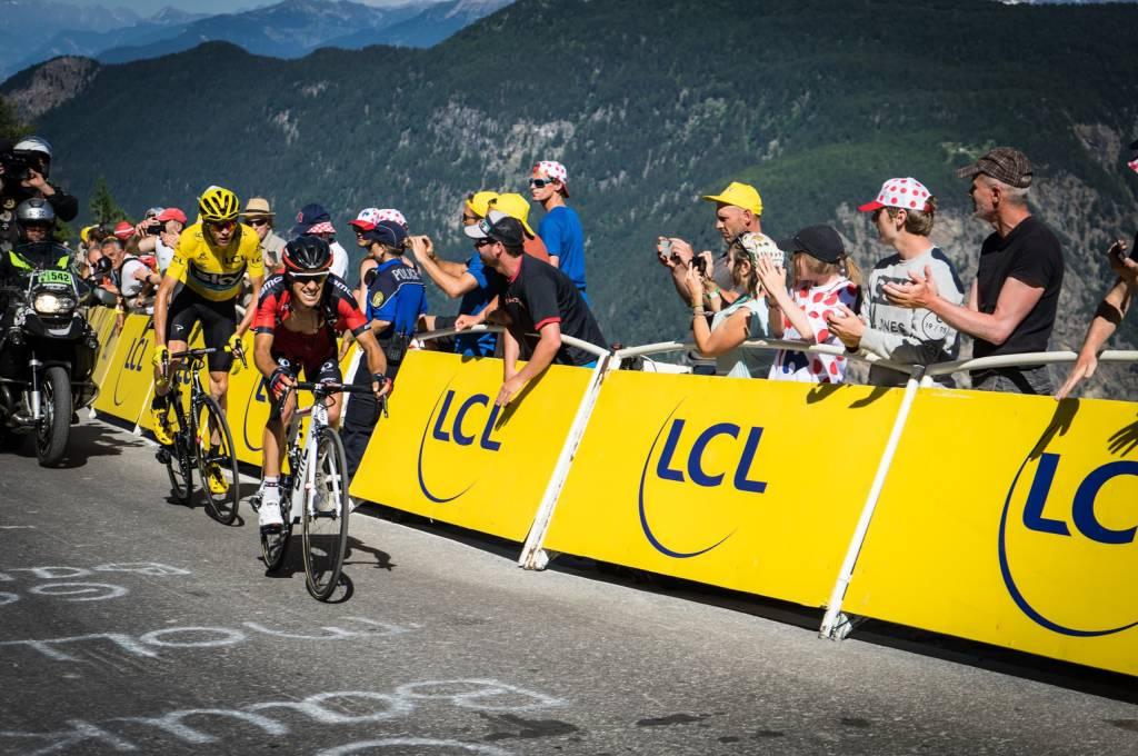 Kampf um das Gelbe Trikot bei der Tour de France