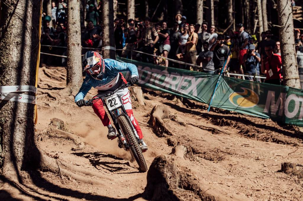 Downhill Worldcup Action 2019