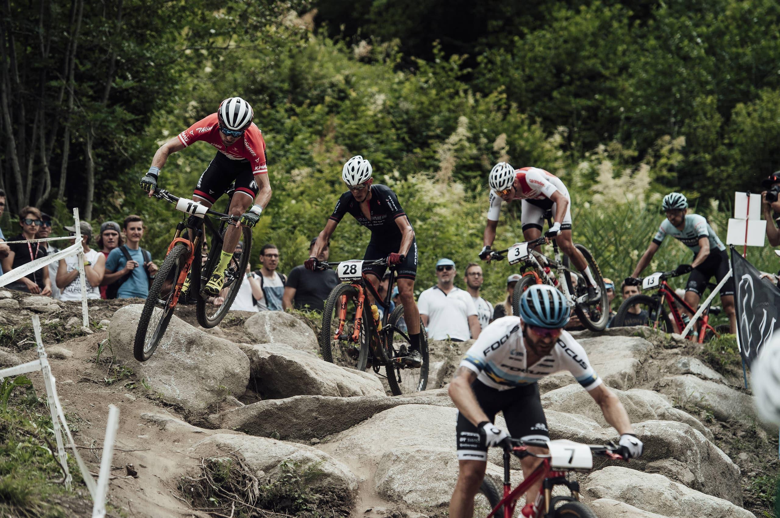 UCI XC Worldcup Cross County Race Action