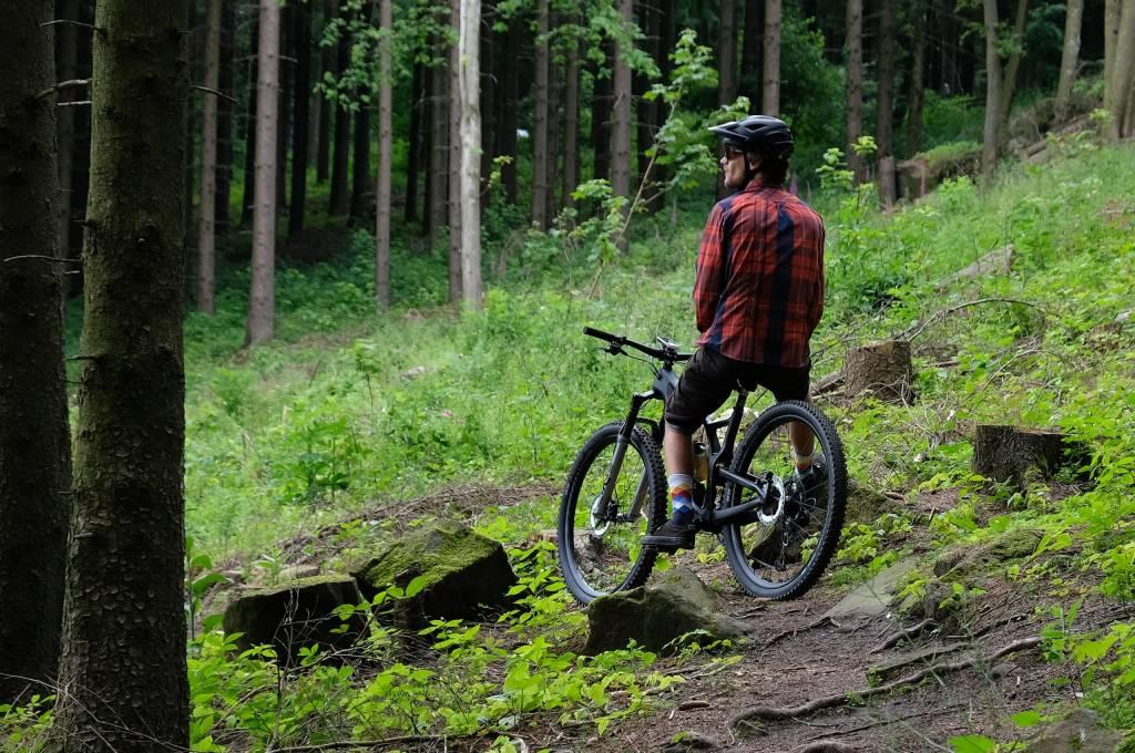 Mountainbiken statt Büroarbeit