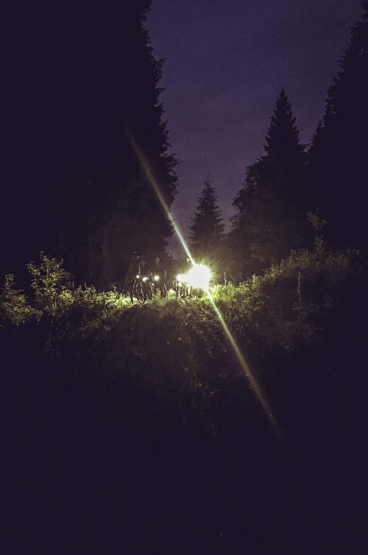 Maurice Brocco 400 Rennradgruppe mit Beleuchtung im Wald