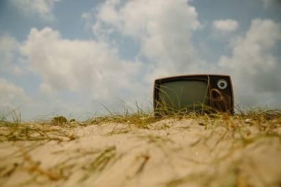 Radsport findet auch im Fernseher stattt
