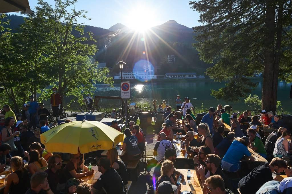 Biergarten Hörnli Trailjagd Arosa 2019