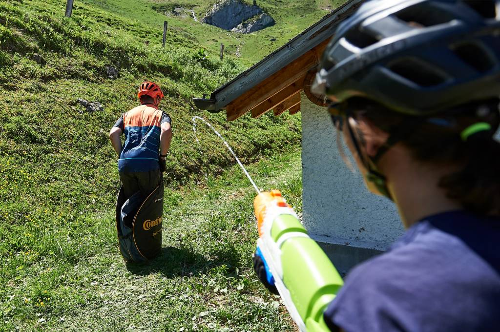 Continental Sackhüpfen bei der Hörnli Trailjagd Arosa 2019