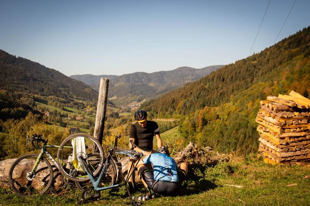 Fahrradreparatur beim Votec Gravel Fondo 2018