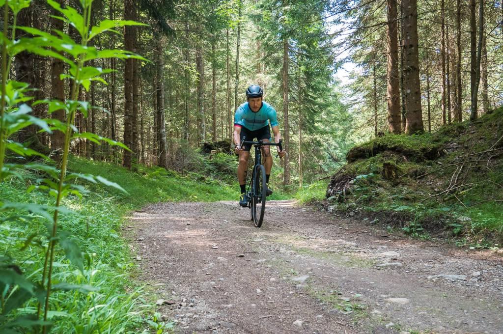 auch über Forstwege geht das Grade gut nach vorn