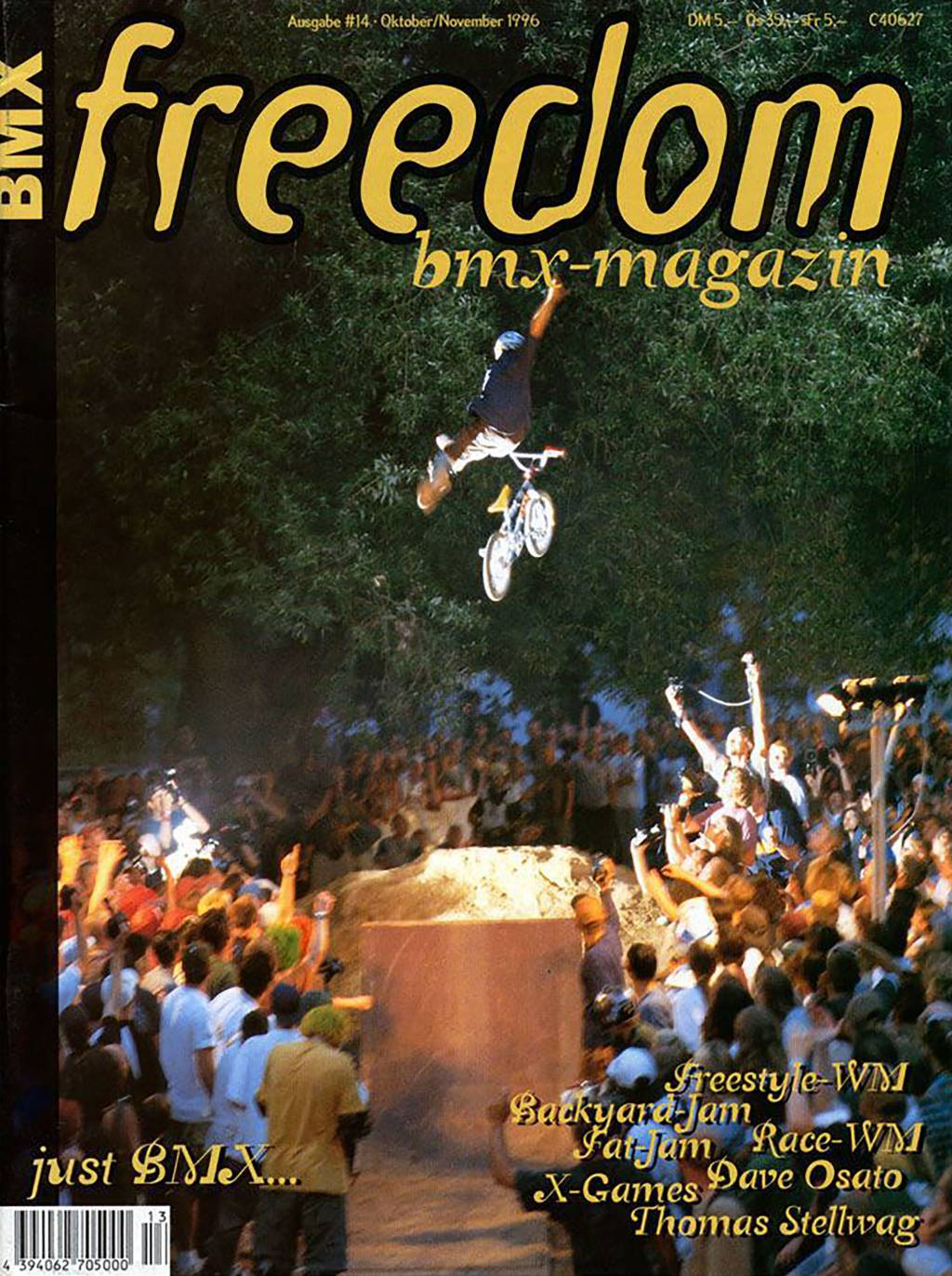 Cover freedombmx Magazin Ausgabe 14 1996
