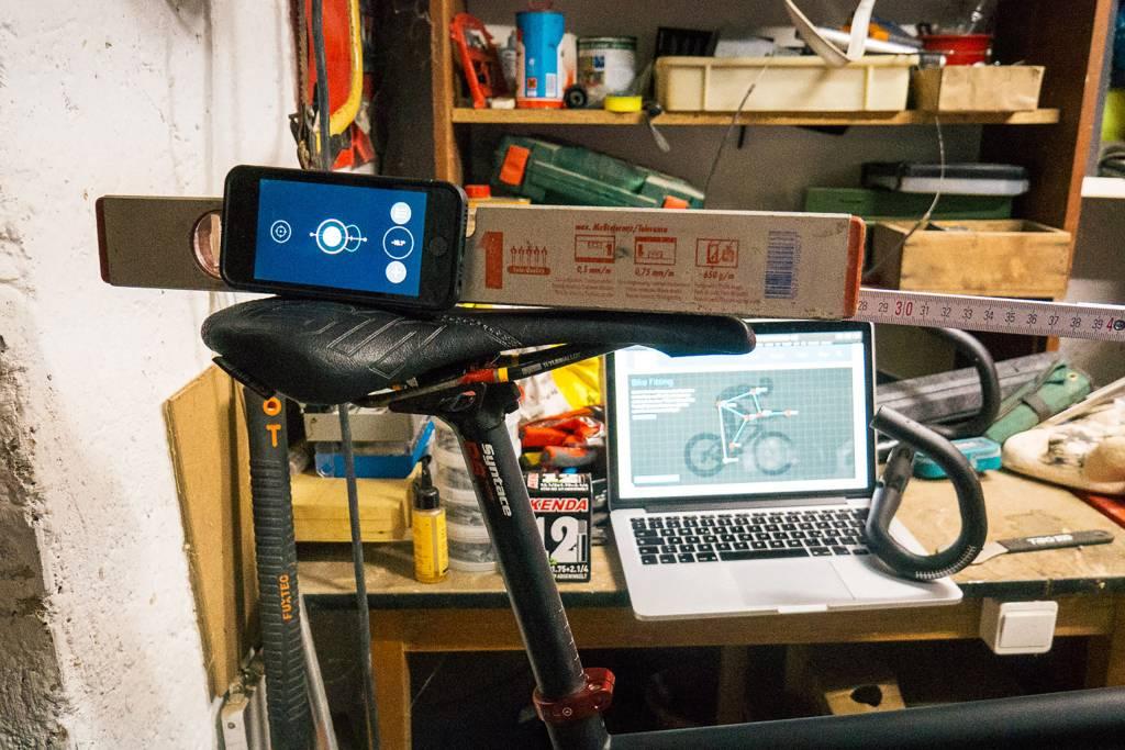 Bike Fitting Werkzeuge in der Werkstatt