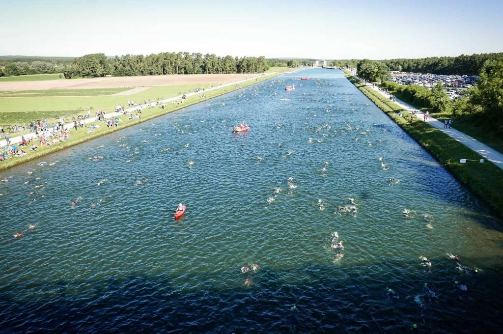 Schwimmstrecke Challenge Roth Main-Donau-Kanal