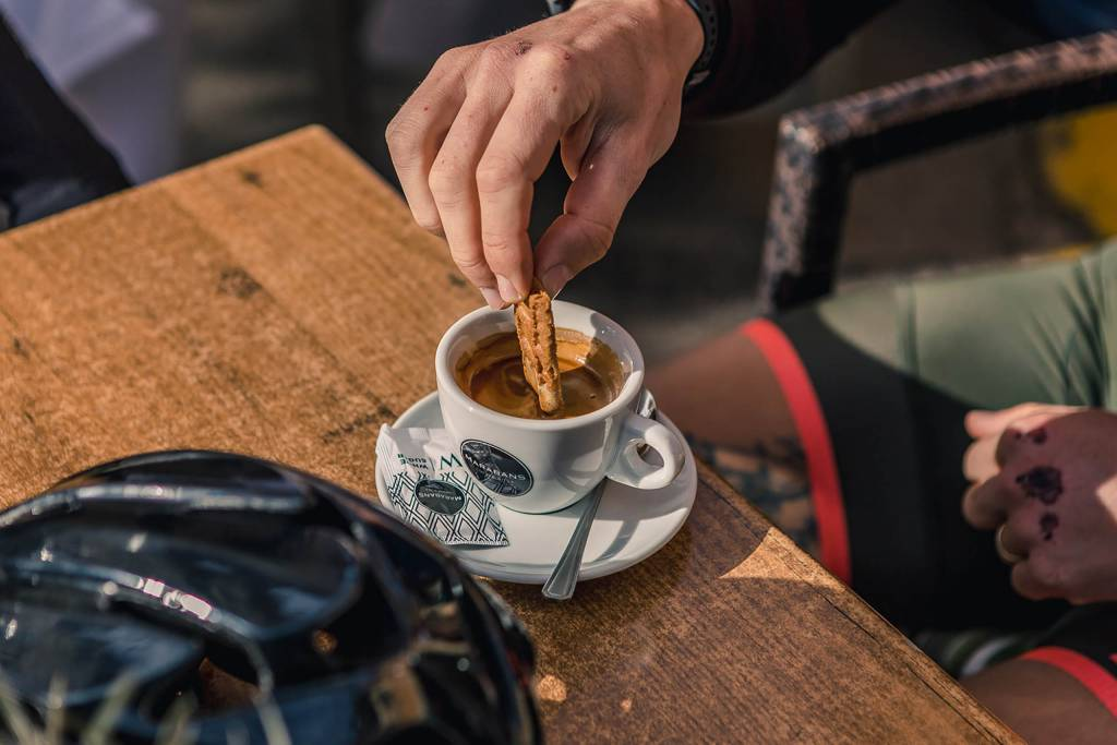 Espresso bei Marabans Mallorca
