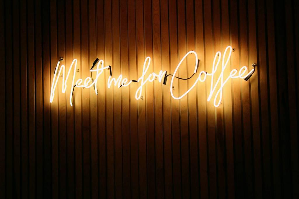 Neonreklame Café