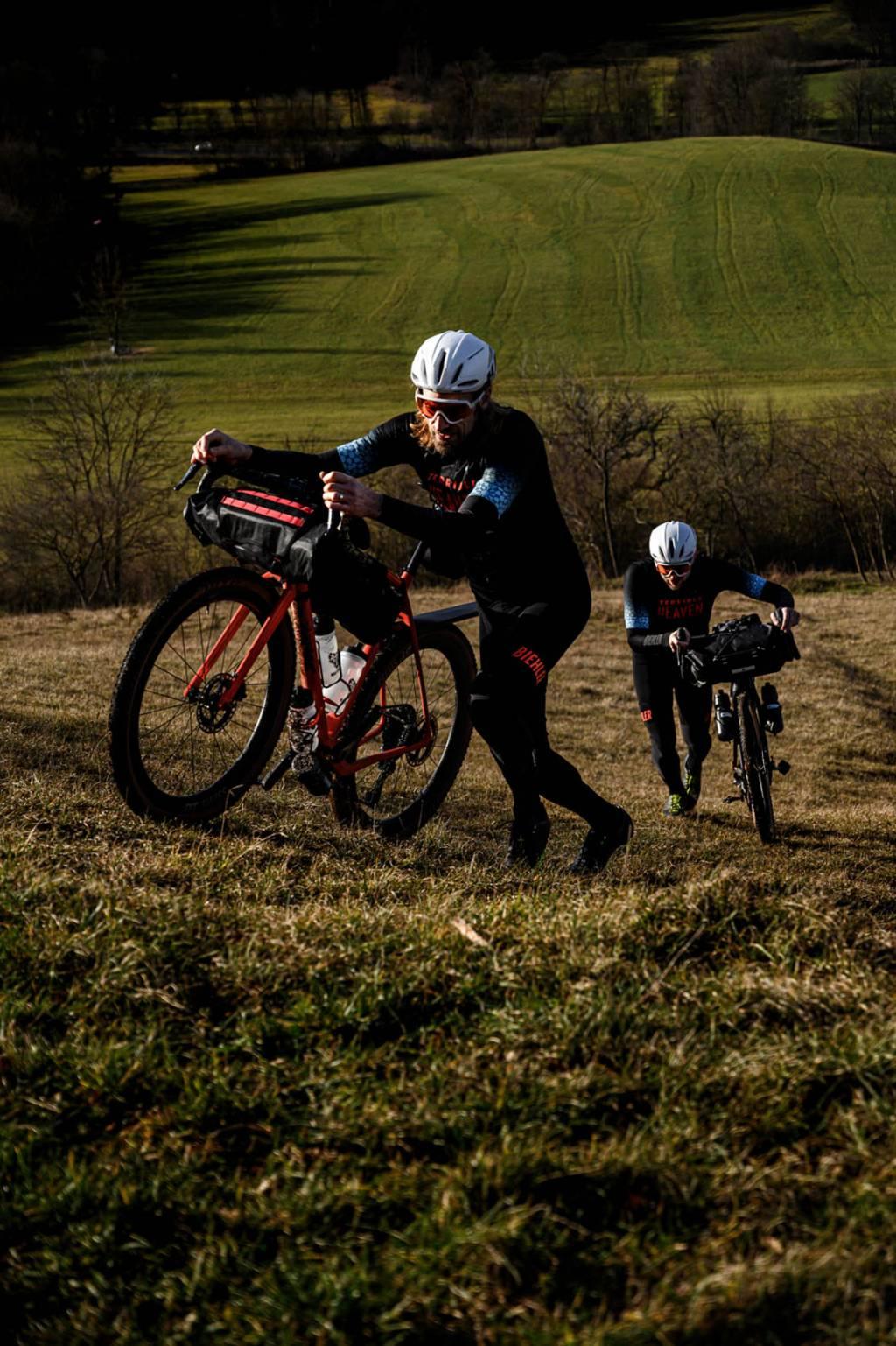 Schiebepassage Bikepacking Gravelbike