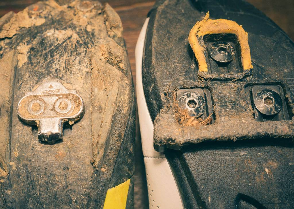 Fahrrad Cleats Verschleiß