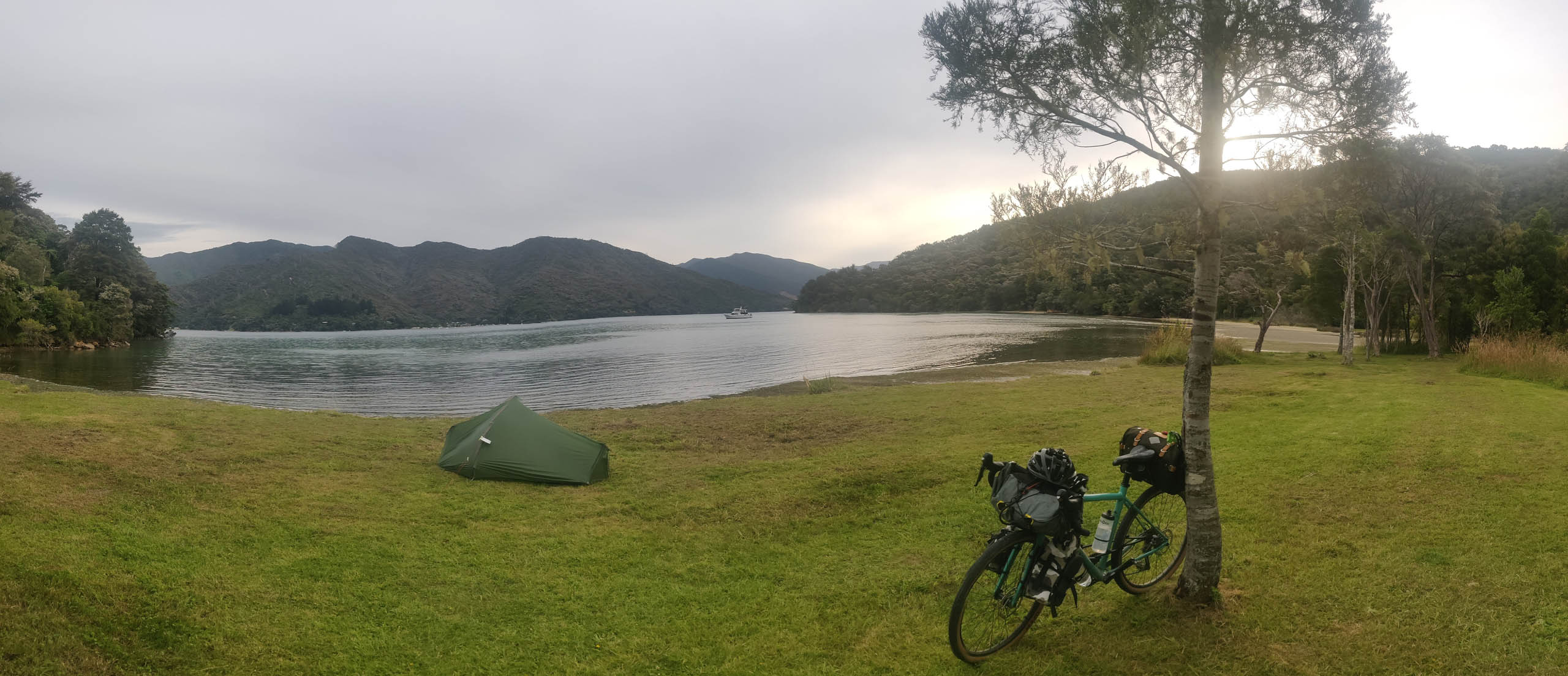 Bikepacking Neuseeland Campingplatz