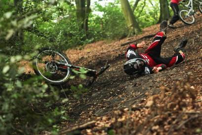 Mountainbike Sturz