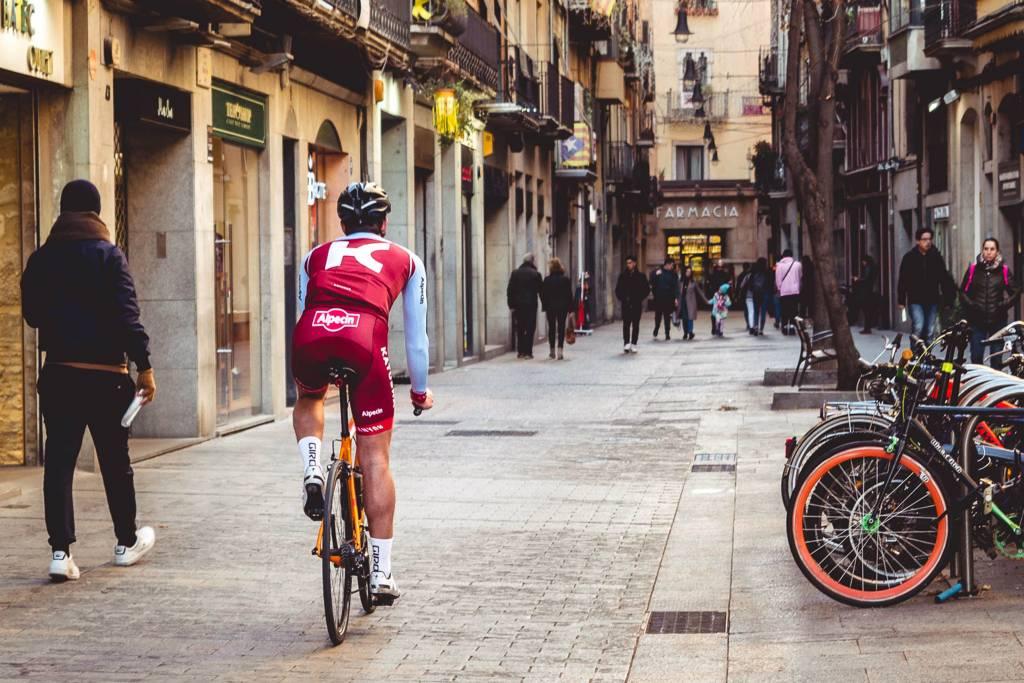 Girona Altstadt Rennrad Team Katusha