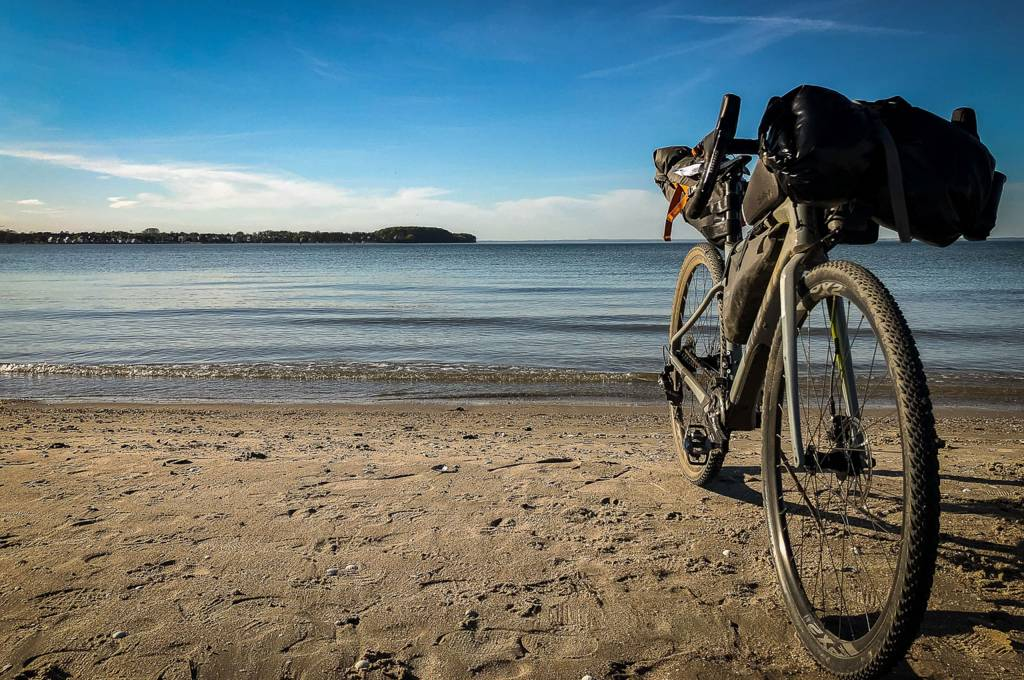 Gravelbike Strand Sand Meer