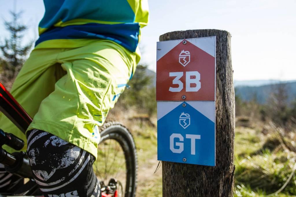 Wegweiser Trailcenter Brilon Mountainbike
