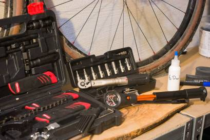 Fahrradwerkstatt Werkzeuge