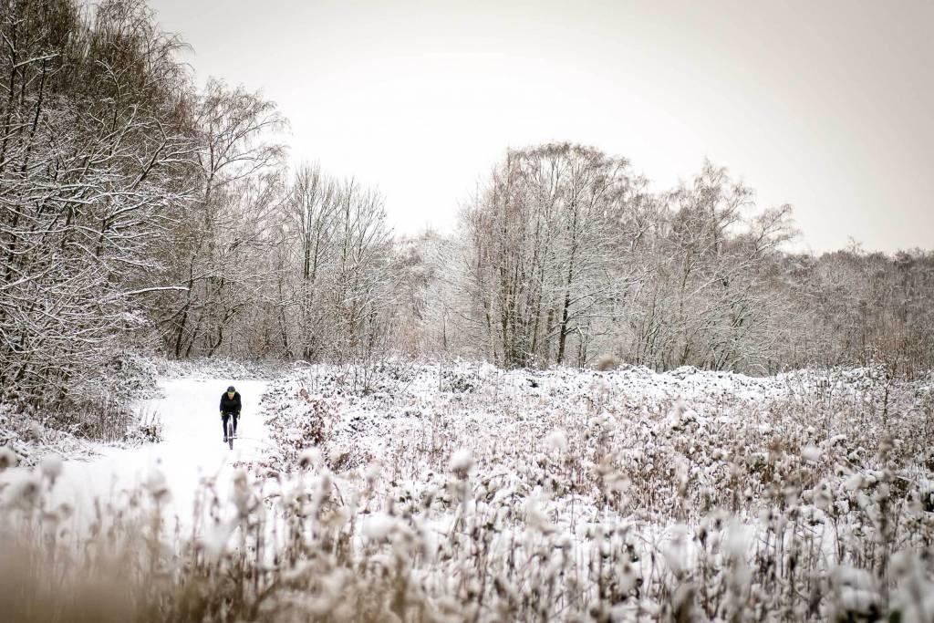 Gravelbike Schnee