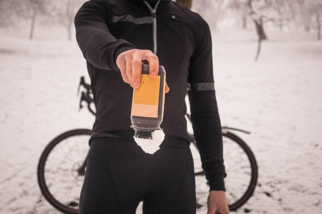 Fahrrad Thermosflaschen Test Schnee