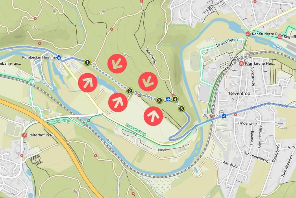 Routenplanung mit komoot off Grid