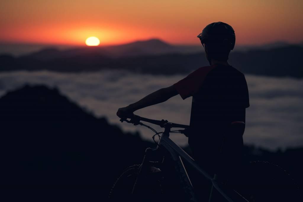 Orbea MTB Sonnenuntergang