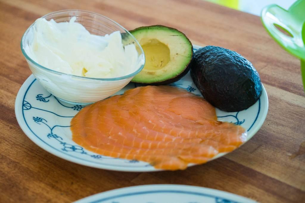 Zutaten Avocado-Lachs-Wrap