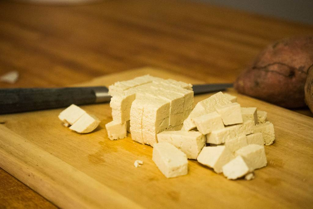 Gewürfelter Tofu
