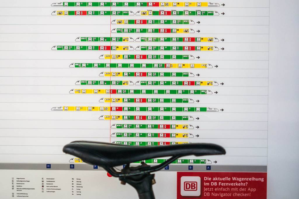 Wagenstandsanzeiger Bahn
