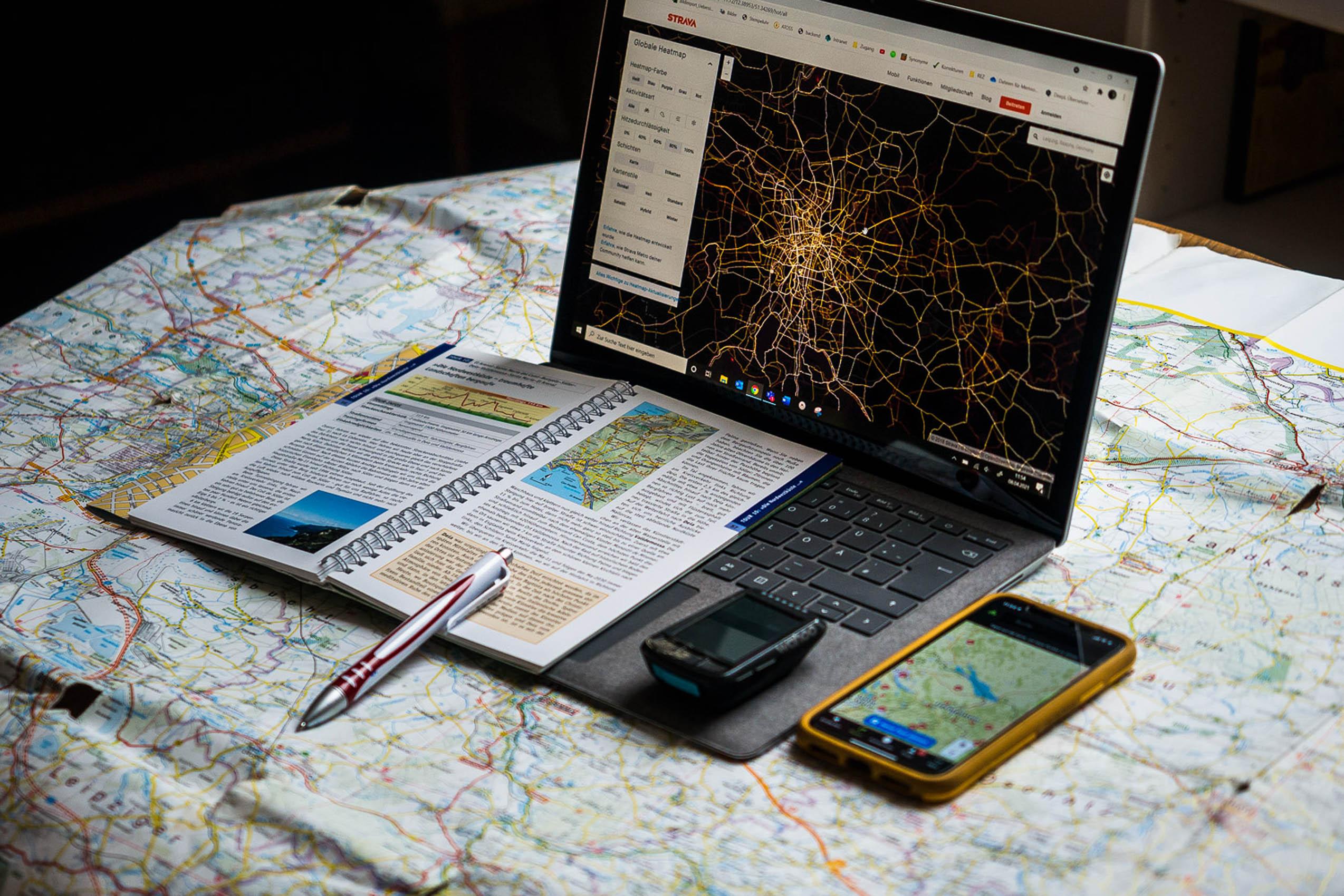 Planung Radtour Apps Karte