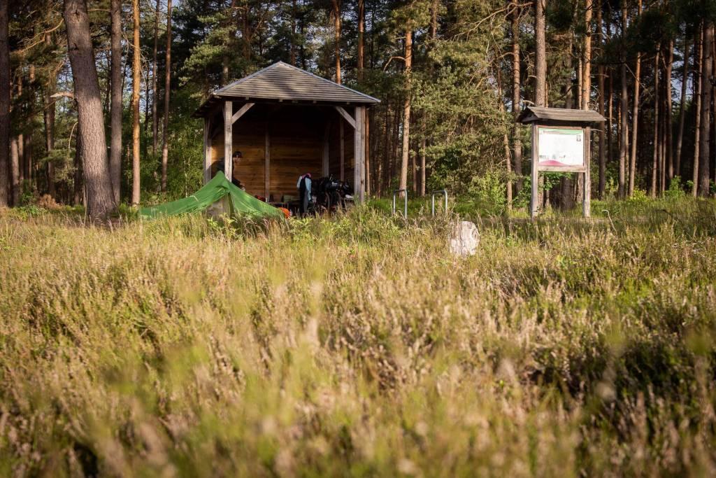 Schutzhütte Radtour