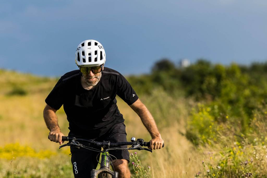 Mountainbiker POC Tectal Race Spin NFC Helm